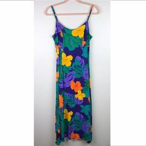 Jams World Floral Maxi Dress Sleeveless Bisctera M